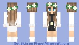€łłα | White cardigan with black dress Minecraft Skin