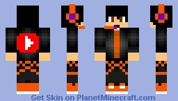 Orange Gamer Minecraft Skin