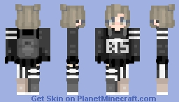 basically a bts spin off of my first skin oops Minecraft