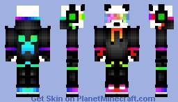 Panda awesomness rainbow Minecraft Skin
