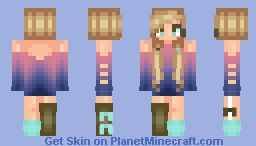 Ombre Sweater Girl Minecraft