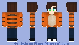 Tiger Guy Minecraft Skin