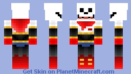 HorrorTale Papyrus Minecraft Skin