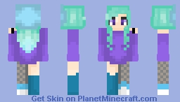 Mint Colors Minecraft Skin
