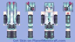 hatsune macaroni Minecraft Skin