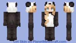 Kawaii Panda Onesie Minecraft Skin