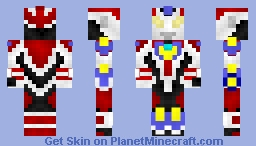 Ultraman Ginga Victory (Ultraman Ginga + Ultraman Victory) [Ultraman Ginga S The Movie: Showdown! The 10 Ultra Warriors!] Minecraft Skin