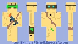 Sand warrior. Minecraft Skin