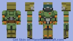 Doom Slayer Minecraft Skin