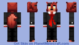 -FNAF- Foxy (CaramelCraze Character) Minecraft Skin
