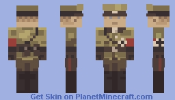 WW2 German Officer Minecraft Skin