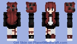 ᏰᏋᏝᏬ    ❅ ℬ𝓵𝓪𝓬𝓴 ℛ𝓸𝓼𝒆 ❅ Minecraft Skin