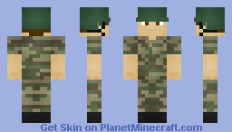 This Year on Earth - Turkish Military Coup Soldier Minecraft Skin