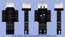 Hoodie with white hair dude Minecraft Skin