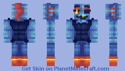 Undyne The Casual Minecraft Skin