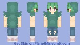 Girl with Zombie Hoodie - Μαcαrοη_ Minecraft Skin