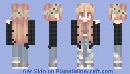 Black Flannel Girl Minecraft