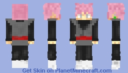 Black Goku SSJ Rose Minecraft Skin