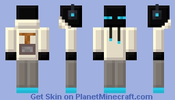 Blue Tiny Pixels Enderman Minecraft Skin