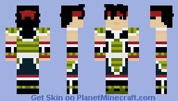Bardock (Fan Armor) Minecraft Skin