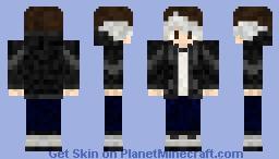White fringe emo hair Minecraft Skin