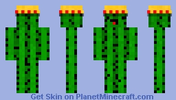 Fancy Cactus Minecraft Skin