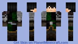 medieval warrior V. green Minecraft