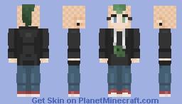 Alien Geek In the spaceship| My OC Minecraft Skin