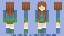 𝒯𝓈𝓊𝓃𝒶𝓂𝒾~ 𝐵𝓁𝓊𝑒 𝒶𝓃𝒹 𝒢𝓇𝑒𝑒𝓃 Minecraft Skin