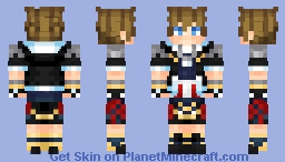 *Request From Seitakunaru ; Sora ~ Kingdom Hearts (Looks Better In Game, Trust Meh) Minecraft Skin