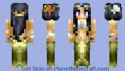 Mermaid Princess Minecraft Skin