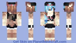 ♬₵ø~Ѻкḯℯ♬ - Anthro tumblr thingy Minecraft Skin