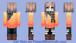 ♬₵ø~Ѻкḯℯ♬ - Have a lil pumpkin :3 Minecraft Skin