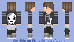 Guy with grey clothes and brown hair Minecraft Skin
