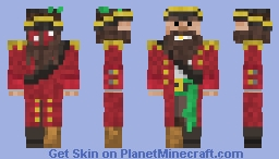 The Pirate Cap'n Minecraft Skin