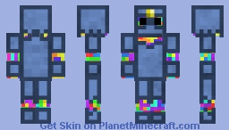 Rainbow Knight Minecraft Skin