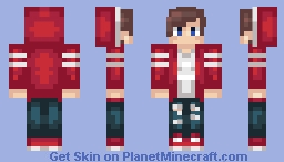 Wow he kinda looks like a candy cane Minecraft Skin