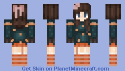 Winter outfit brunette short haired gurl~ Minecraft Skin