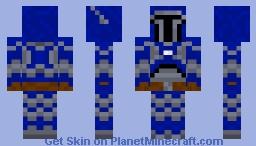 Blue Mandalorian Minecraft