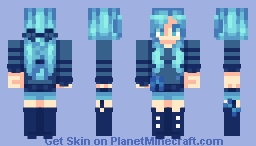 The girl who used to be cool Minecraft Skin