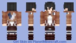 Attack on titan: Eren (chibi) Minecraft Skin