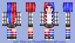 Red n Blue Minecraft Skin