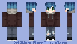 Shout Out To The Blue Haired Boiiiisss Minecraft Skin