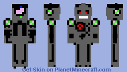 Ryobot (For an anonymous Minecrafter)(With REAL moving eyes!) Minecraft Skin