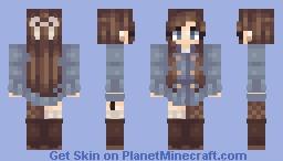 Windy Winter (alt. skin tones) Minecraft Skin