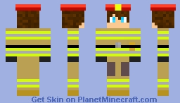 Fire Fighter (Incomplete) Minecraft Skin