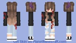 Purple Horns Girl ; Wonderlanq Req Minecraft Skin