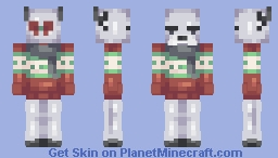 a disappointed silver reindeer. // contest entry Minecraft