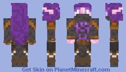 Nightfallen Elf (World of Warcraft) Minecraft Skin