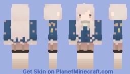 Musical Girl | Violin Blue Minecraft Skin